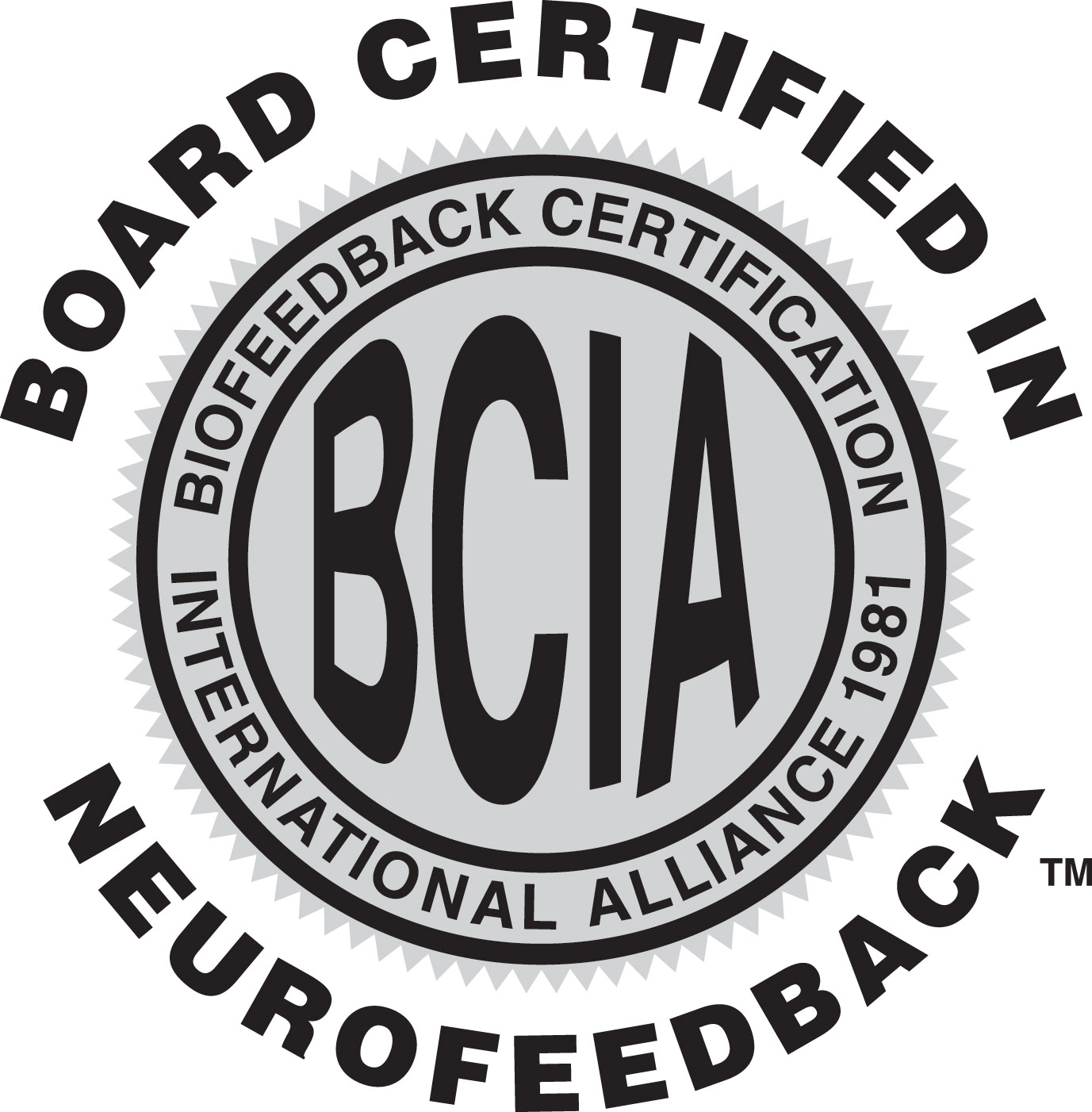 BCIA – Biofeedback Certification International Alliance 1981 logo